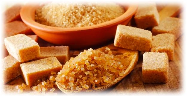 коричневый сахар в разных формах